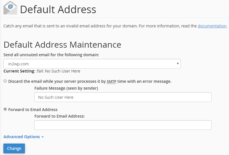 Default Address Maintenance