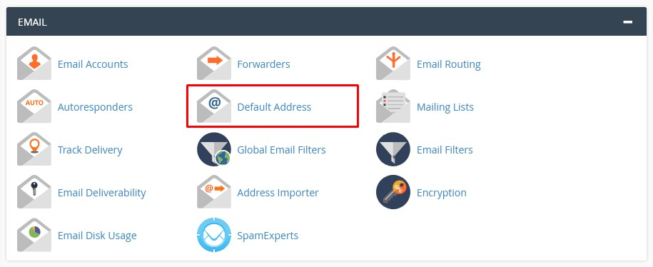 cPanel Default Address